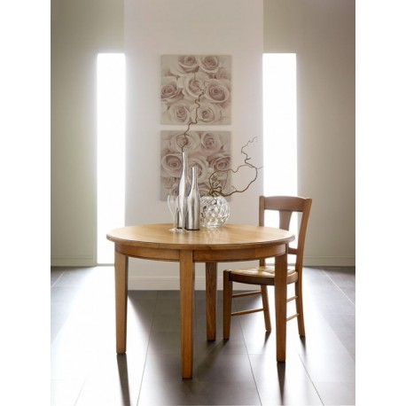 Table ronde ou ovale 4 pieds mercier for Table basse ronde ou ovale