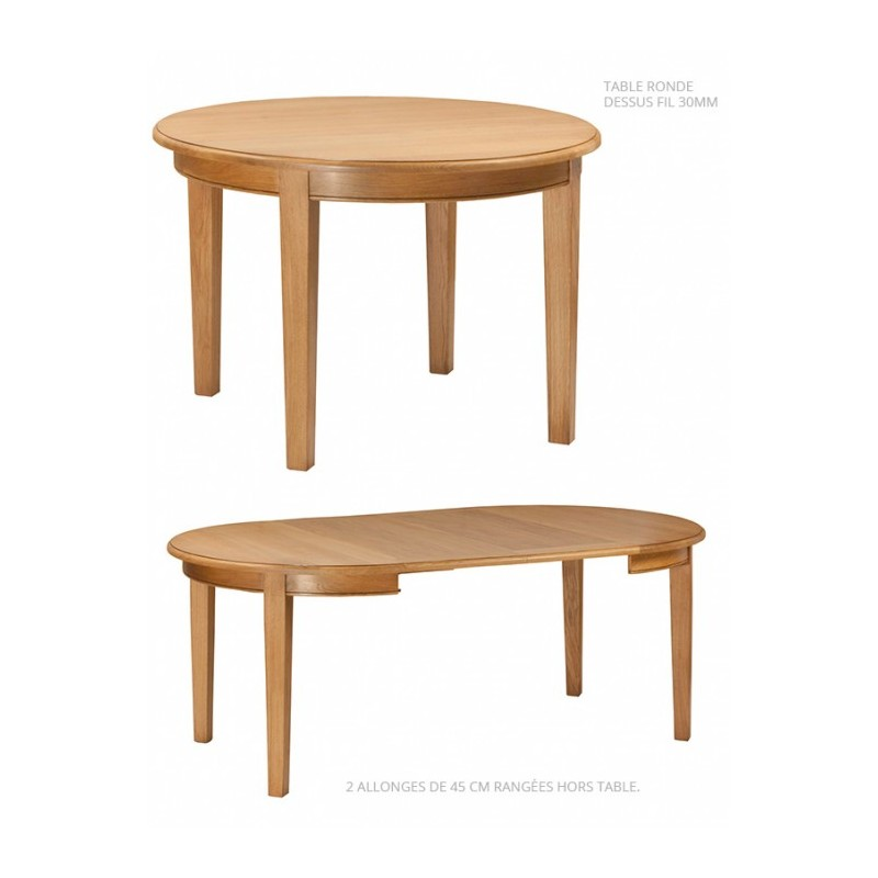 Table ronde 4 pieds awesome table ronde pieds en htre for Table de cuisine ronde ou ovale