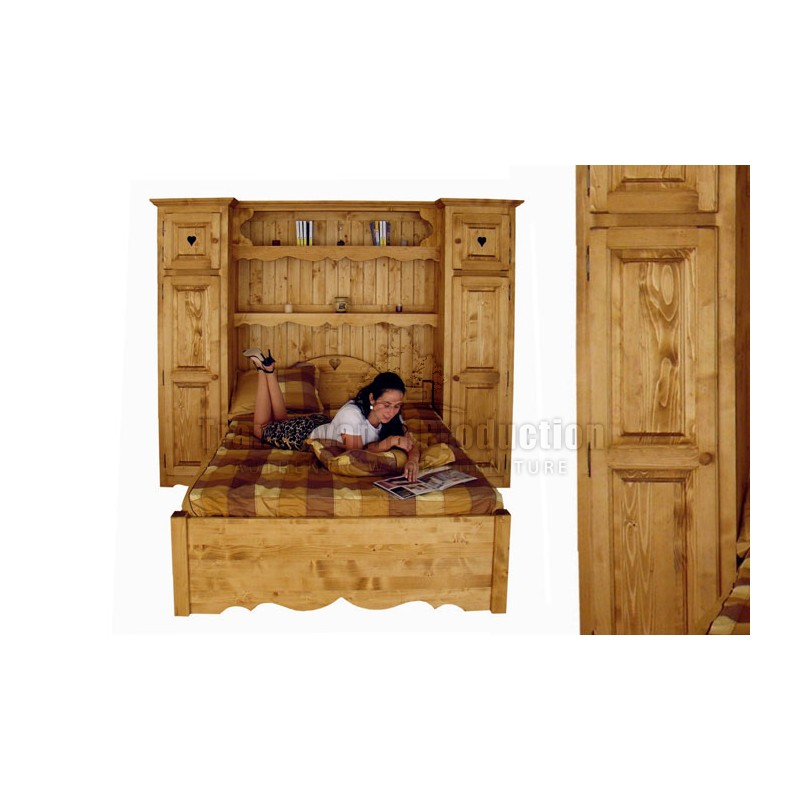 Armoire pont de lit lit escamotable conforama excellent for Armoire pont