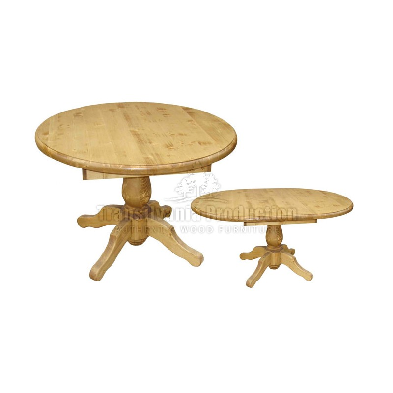 Table Ronde Pied Central Tourne Tradition