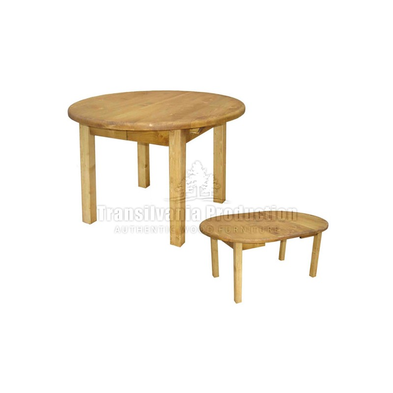 Table ronde 4 pieds tradition for Table 4 pieds