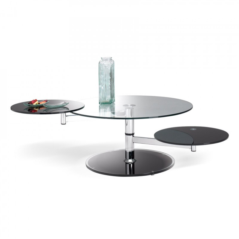 Table basse ovale manhattan - Table basse 3 plateaux ...