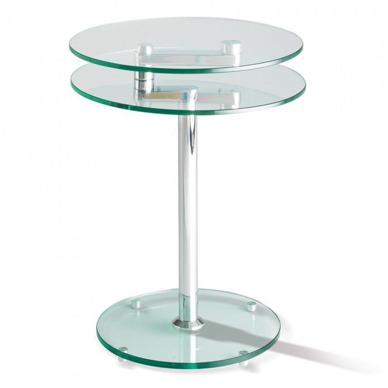 Table de salon en verre 3 plateaux manhattan motard - Tables de salon en verre ...