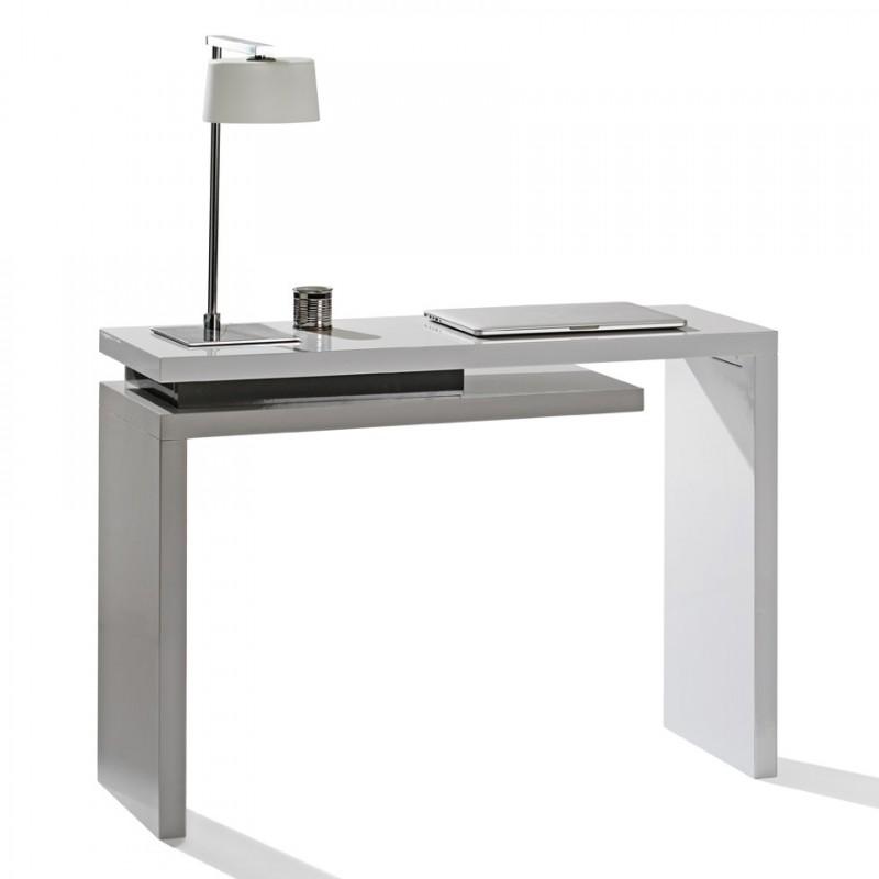 Console bureau 1 tiroir city motard - Bureau console blanc ...