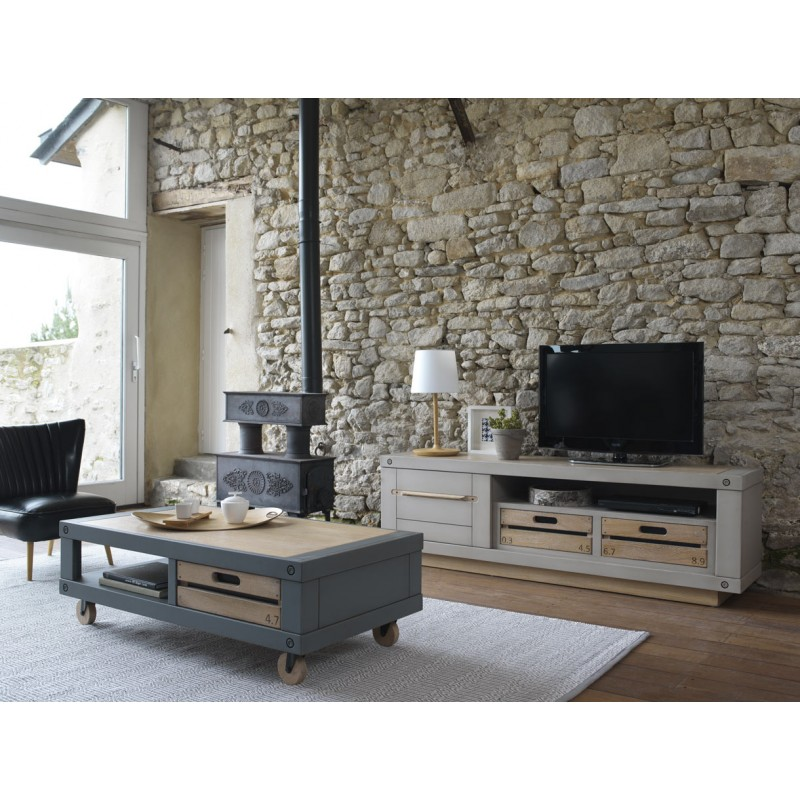 grande meuble tv country couture. Black Bedroom Furniture Sets. Home Design Ideas