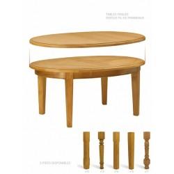 Table ronde ou ovale à panneaux - Mercier