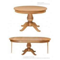 Table ronde ou ovale quadripode - Mercier