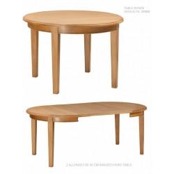 Table ronde ou ovale 4 pieds - Mercier