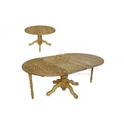 Table ronde Pied central tourné Tradition