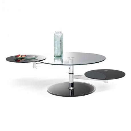 Table de salon ovale 3 plateaux Manhattan - Motard