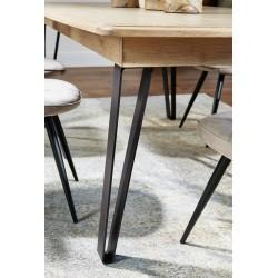 Table Pied métal Séraphine -  Ateliers de Langres